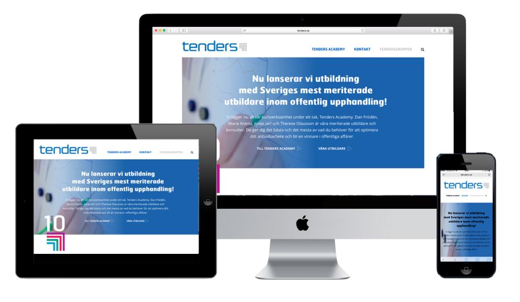 Nystart för Tenders med ny logo och webbplats